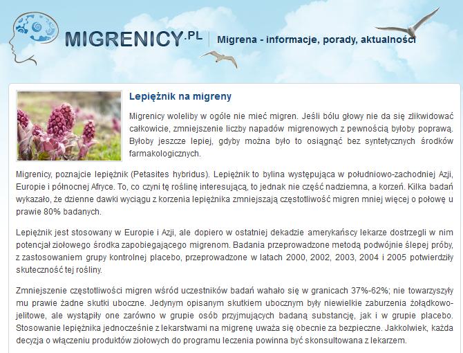 http://migrenicy.pl/lepieznik-na-migreny,57
