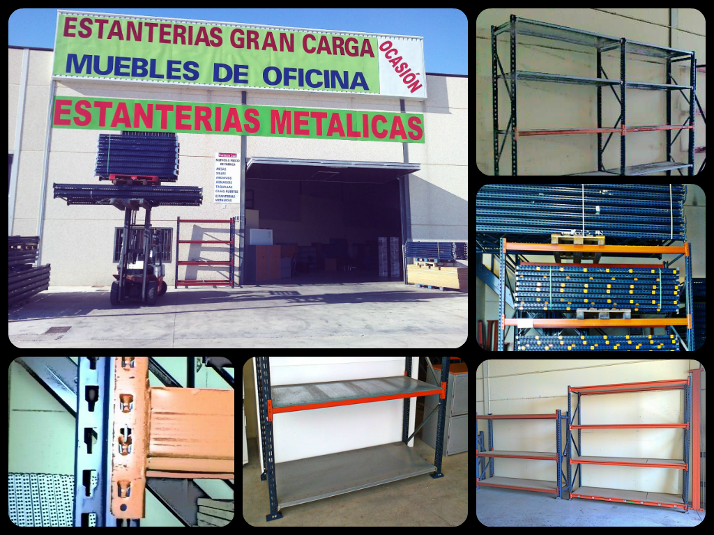 Estanter as met licas y muebles de oficina estanter as for Muebles de ocasion