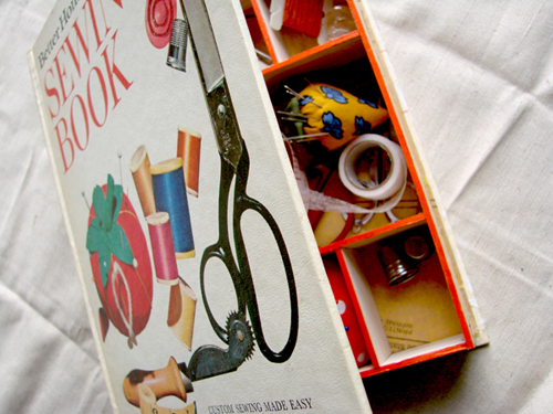 To learn how to make a sewing supplies storage box from an old book (choose a sewing book for maximum awesomeness) download the PDF instructions. & How to make a sewing box from a book | How About Orange