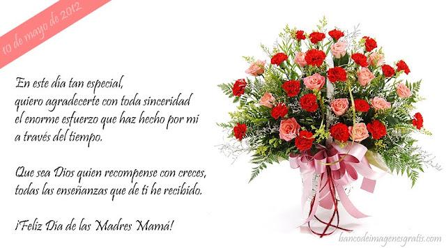 Tarjetas para el Día de las Madres con mensajes y flores