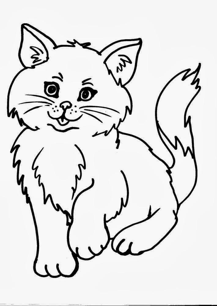 Disegni da colorare di gatti for Disegni del mazzo del cortile