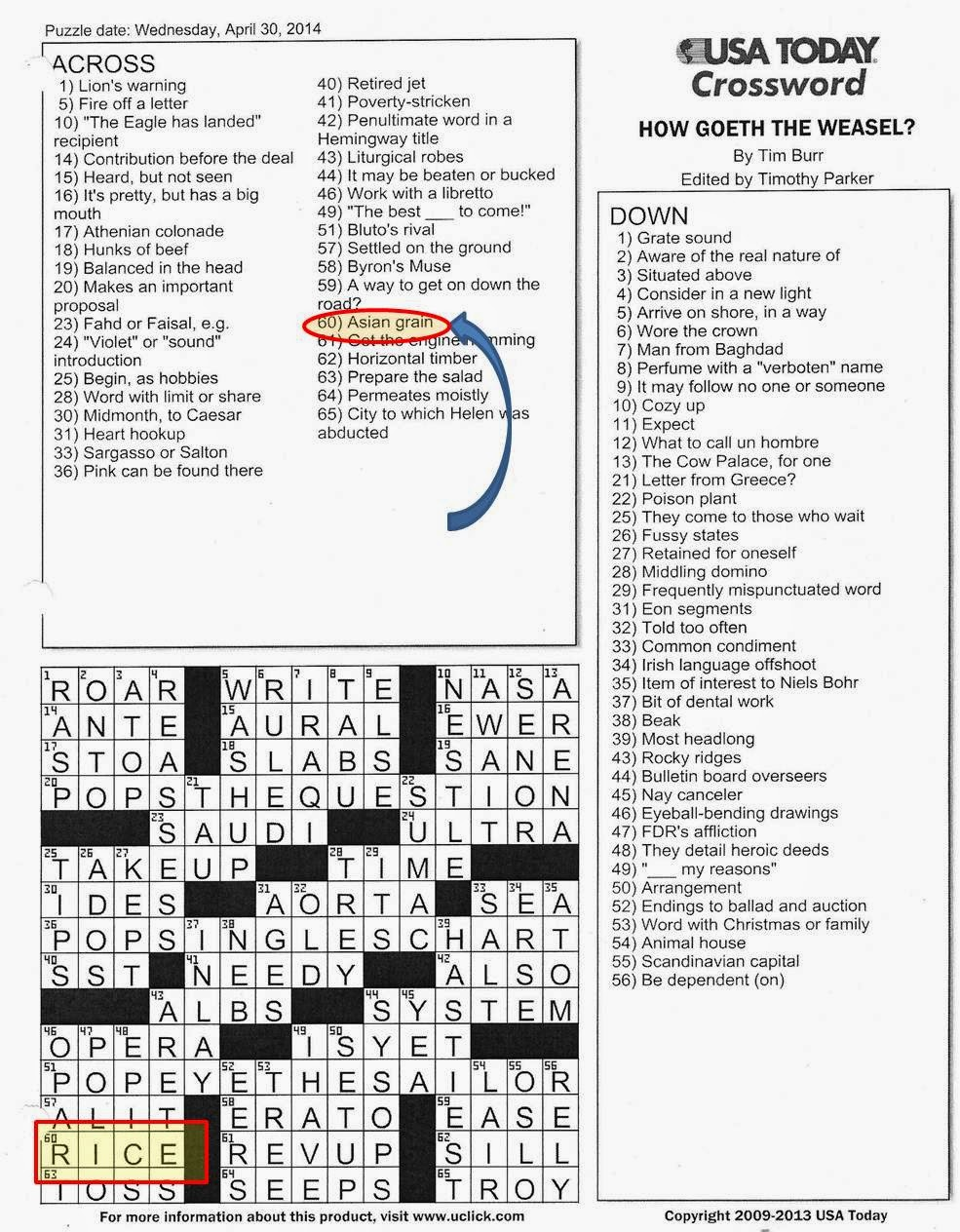 ... iniurias pati: #USAToday crossword puzzle = #racist! #sarc