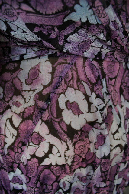 DVF Pink Floral Print Silk Sonica Top
