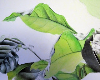 Leaves on Green Giant botanical painting