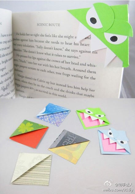 I Found This From Ctbakerinttheacers And Her Instructions Are Fabulous Just Need A Little Cardstock Your Imagination Origami Monster Bookmarks