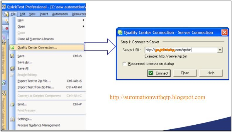 Automation With QTP: How to connect to Quality Center form Quick ...