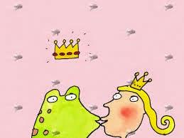 Frosch küsst Prinzessin