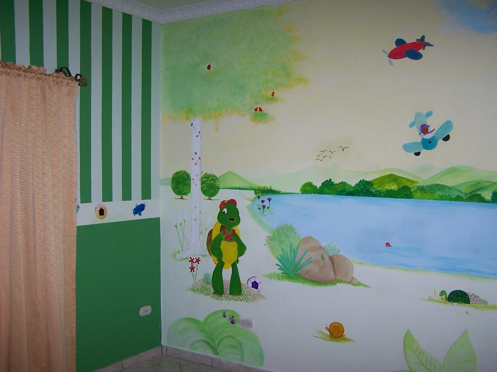 Matices pintura decorativa mural habitaci n ni o - Pintura habitacion ninos ...