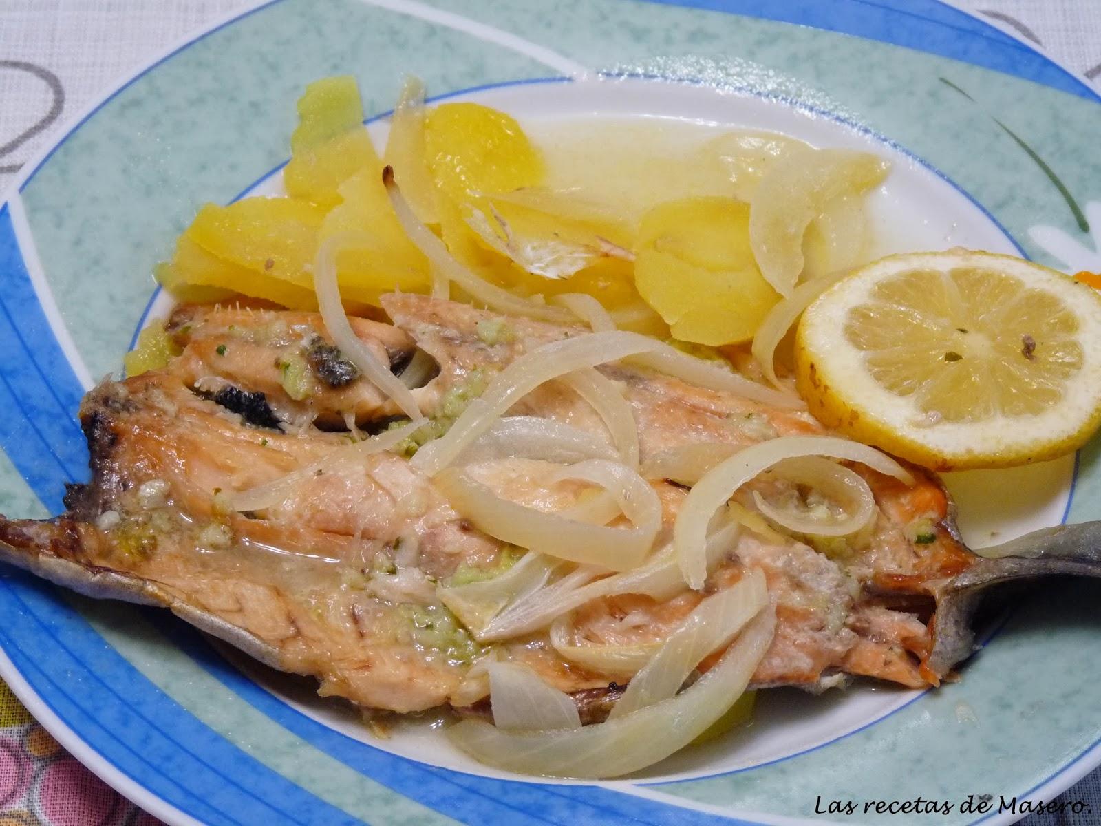 Las recetas de masero trucha asalmonada al horno - Como cocinar la trucha ...