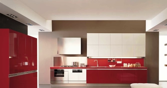 White and red kitchen cabinets furniture modern elegant for Kitchen colors with white cabinets with wall art ceramic tile wall hangings