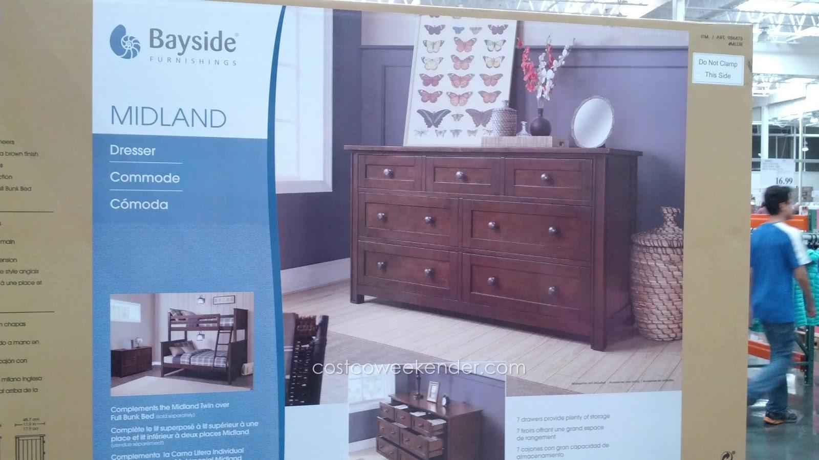 Bayside Furnishings Midland Dresser Costco Weekender