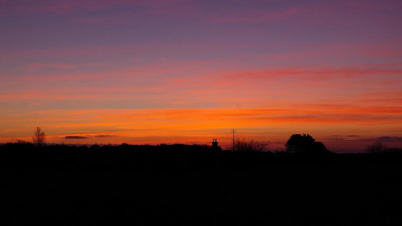 Sonnenuntergang im Januar in Apulien