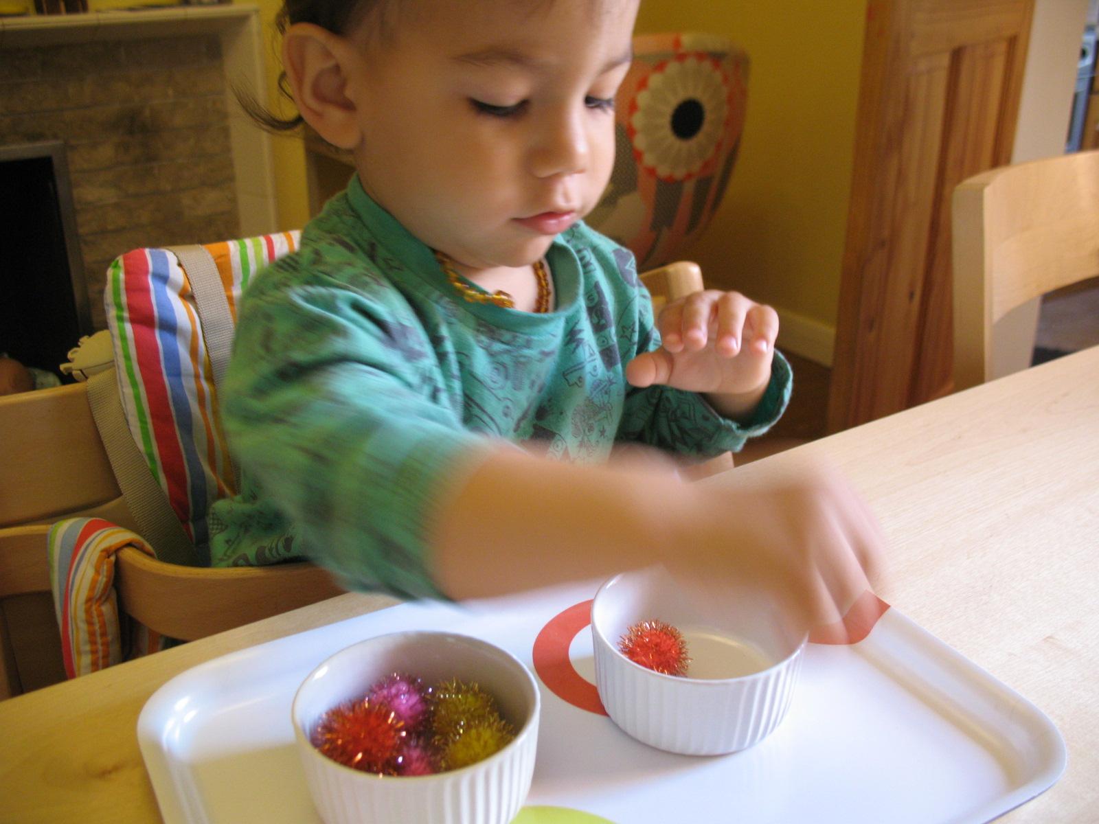 Smiling like sunshine montessori activities for toddlers 2 for Montessori fine motor skills