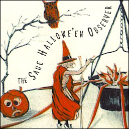 Images is a snippet of a panoramic Halloween scene featuring witches, owls, pumpkins, and a fiery cauldron.