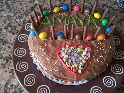 Tarta de cumpleaños para Amaya