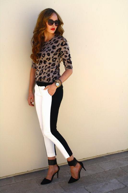 Target Style-Tailored Trend- LA Blogger-LA personal style blogger-fall style-tuxedo pants-cheetah sweater-zara heels-Golden Divine Blog-Ashley Murphy