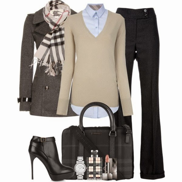 Stylish Winter Office Polyvore Combinations