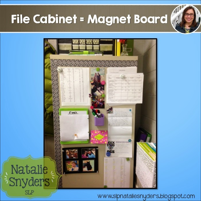 Turn File Cabinets into Magnetic Display Space! - Natalie Snyders, SLP