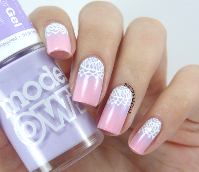 Gradient And Lace With Nails Supreme Nail Art Pens Brit Nails