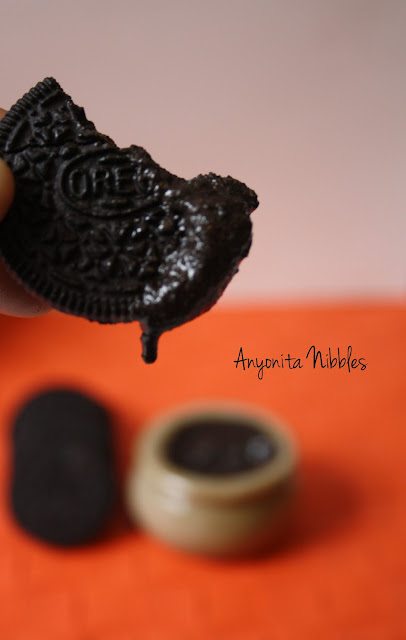 Oreo Cookie dipped in Oreo Cookie Butter