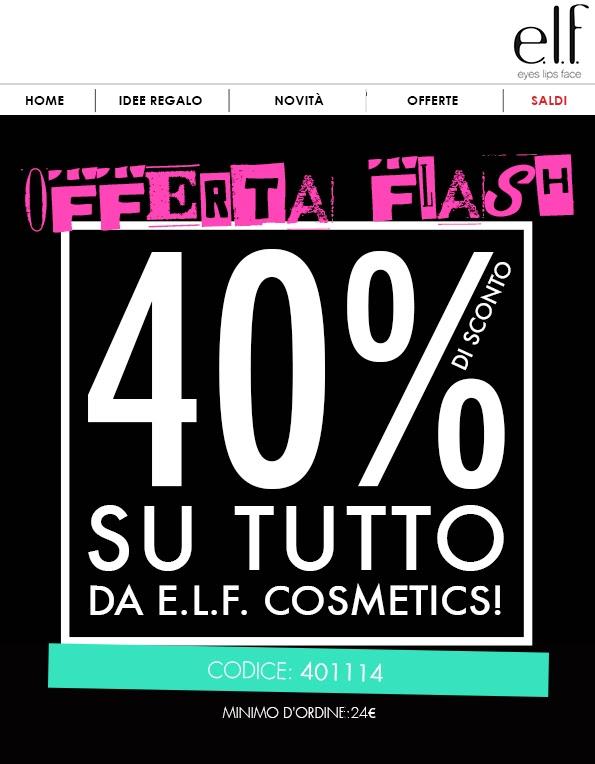 E.L.F. - Sconto 40% su tutto