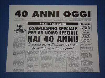 Confetti x i 40 anni