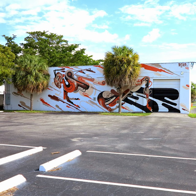 Street Art Mural By Australian Artist REKA in Miami, Florida for Art Basel 2013. 4