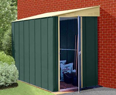 Cobertizos de metal para el jard n jard n y terrazas for Cobertizo de metal