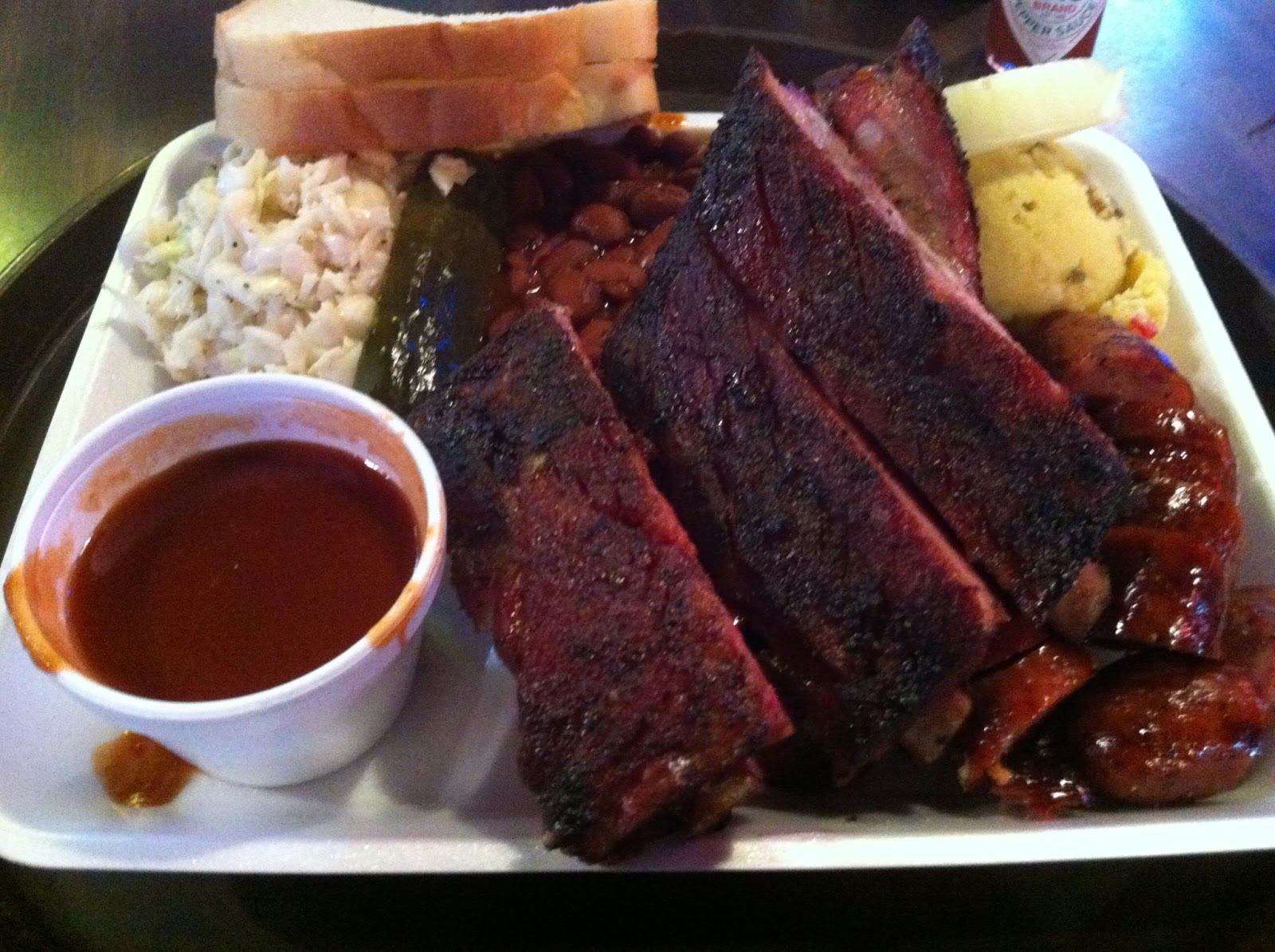 Railhead Smokehouse Two Meat Combo BBQ Barbecue Barbeque Bar-B-Que Fort Worth DFW