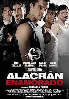 Santiago A. Zannou Alacrán enamorado cartel cine