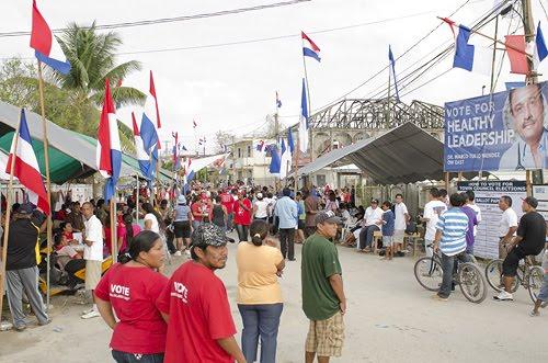 Orange Walk East on election day 2012.