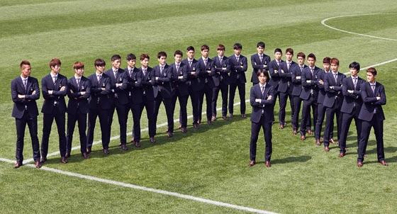 La selección de Korea se viste con la marca Galaxy  @Blocdemoda