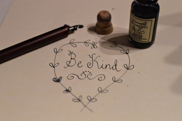 Calligraphy Wooden Pen set and Ink