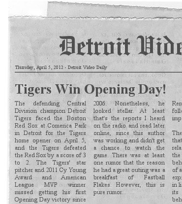 Detroit Video Daily Newspaper
