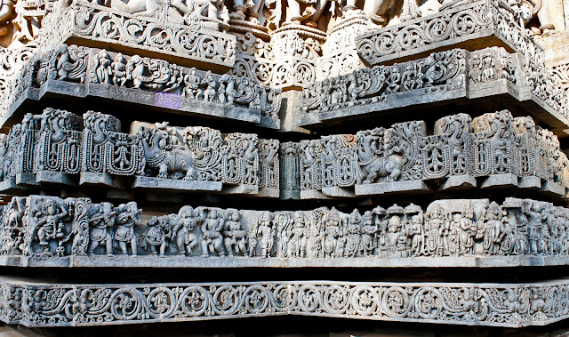 part view of the friezes well structures on the star shaped structure with large recesses in between