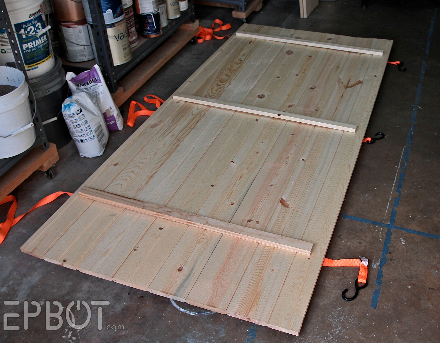 there are several ways to make a simple plank door we used exterior board normally used for house siding