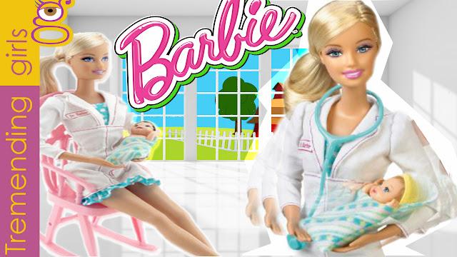 Barbie quiero ser Pediatra - Barbie I can be a Newborn Baby Doctor - juguetes barbie toys