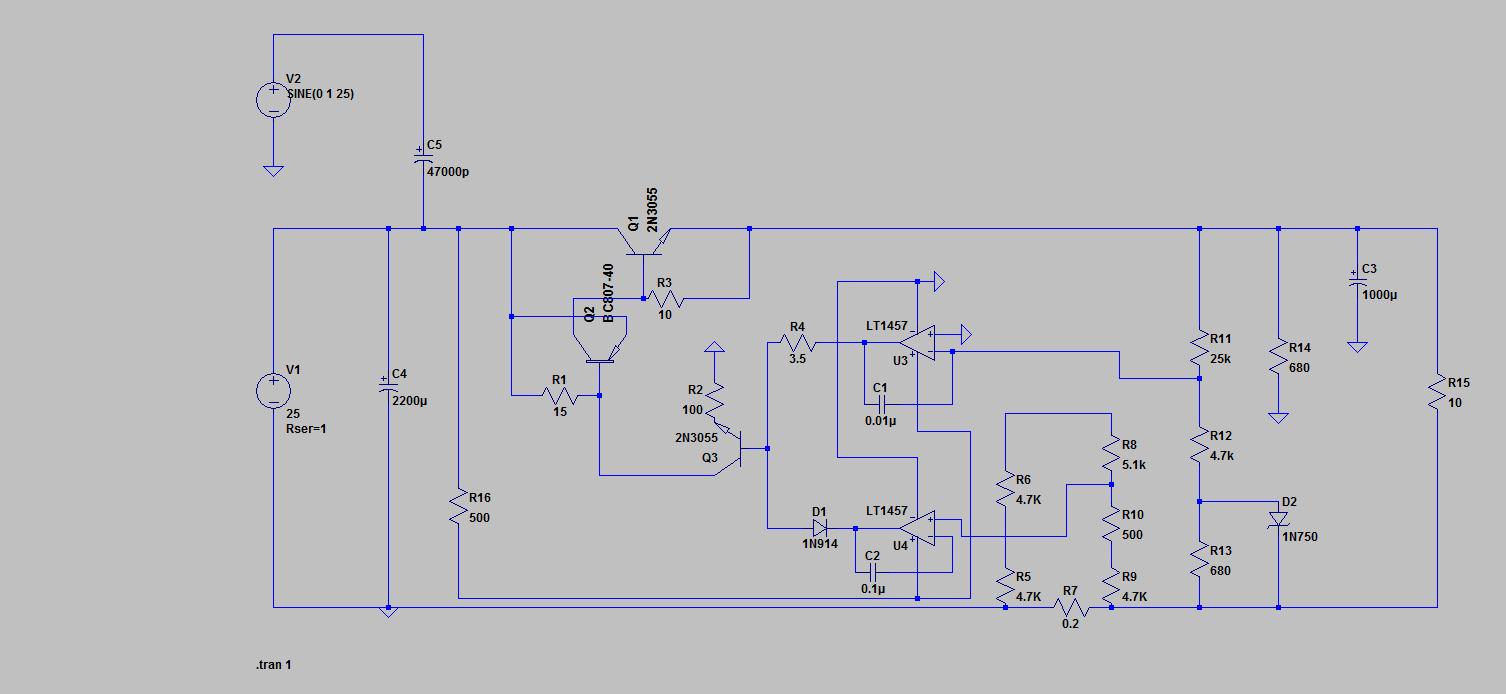 Regulated Linear Dc Power Supply January 2013 Figure 2 Proposed Regulator