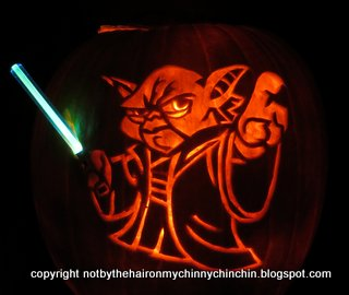 Not by the hair on my chinny chin chin halloween pumpkins 12 stencil pattern master yoda pumpkin pronofoot35fo Image collections