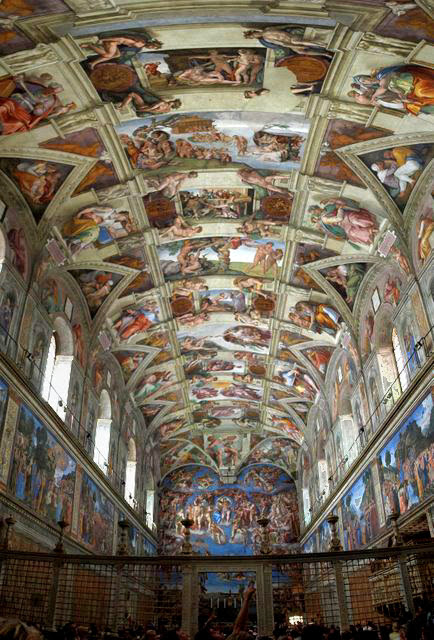 """Sistine Chapel Ceiling"" by Michelangelo, 1508-1512"