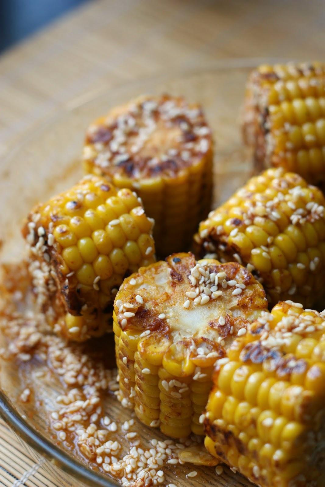 les petits plats de rose: maïs épicé à picorer