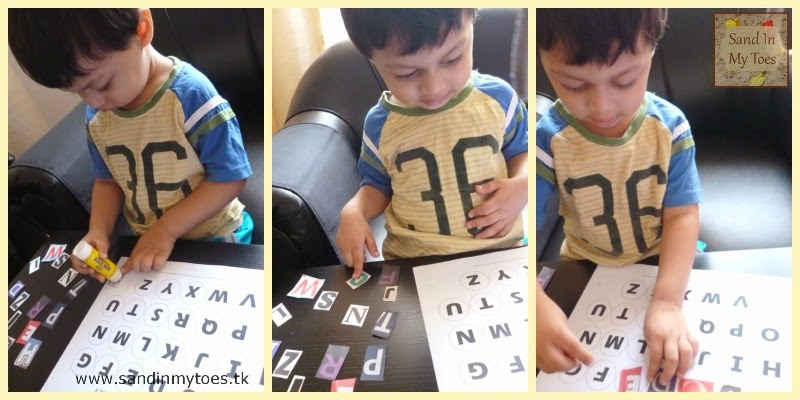 Alphabet Matching Toddler Activity