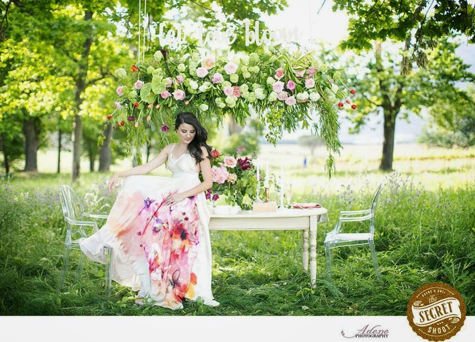 Un Vestido de Novia LLeno de Flores. Secret Shoot.