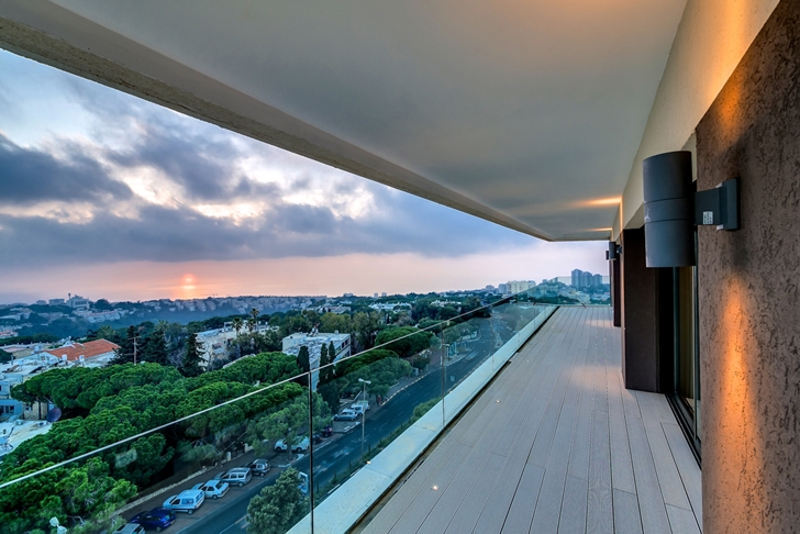 View from Penthouse apartment in Haifa by Alex Menashe