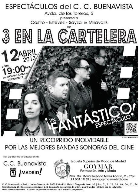 "Castro, Estévez, Sayzal & Miravalls - ""3 en la Cartelera"" - Encanta 3"