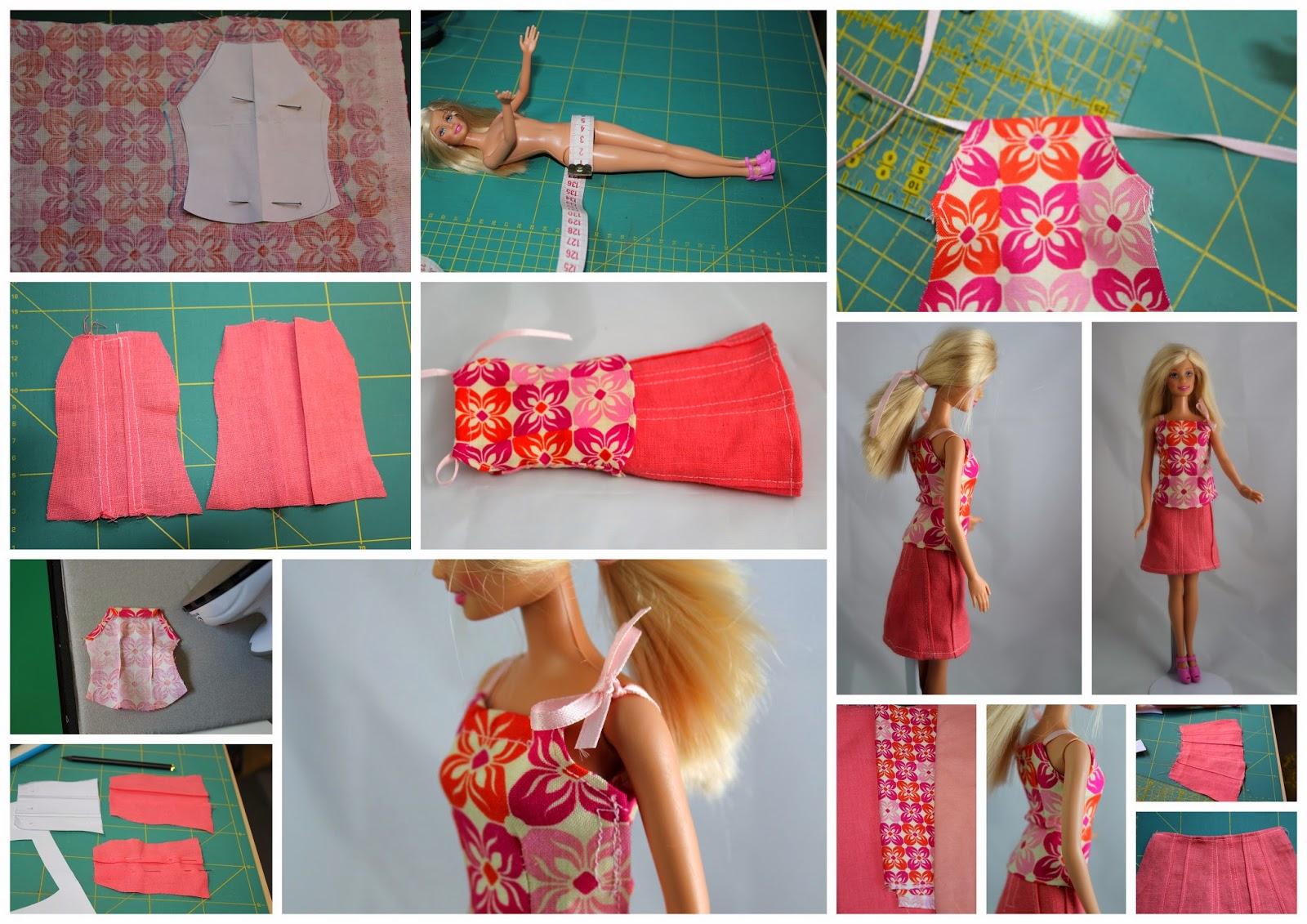Luxury Schnittmuster Für Barbie Kleidung Pictures - Decke Stricken ...