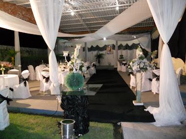 Salão em Branco e Preto