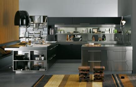 Decora y disena cocinas de acero inoxidable for Cocinas de restaurantes modernos