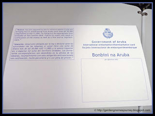 Government of Aruba International embarkation/disembarkation card