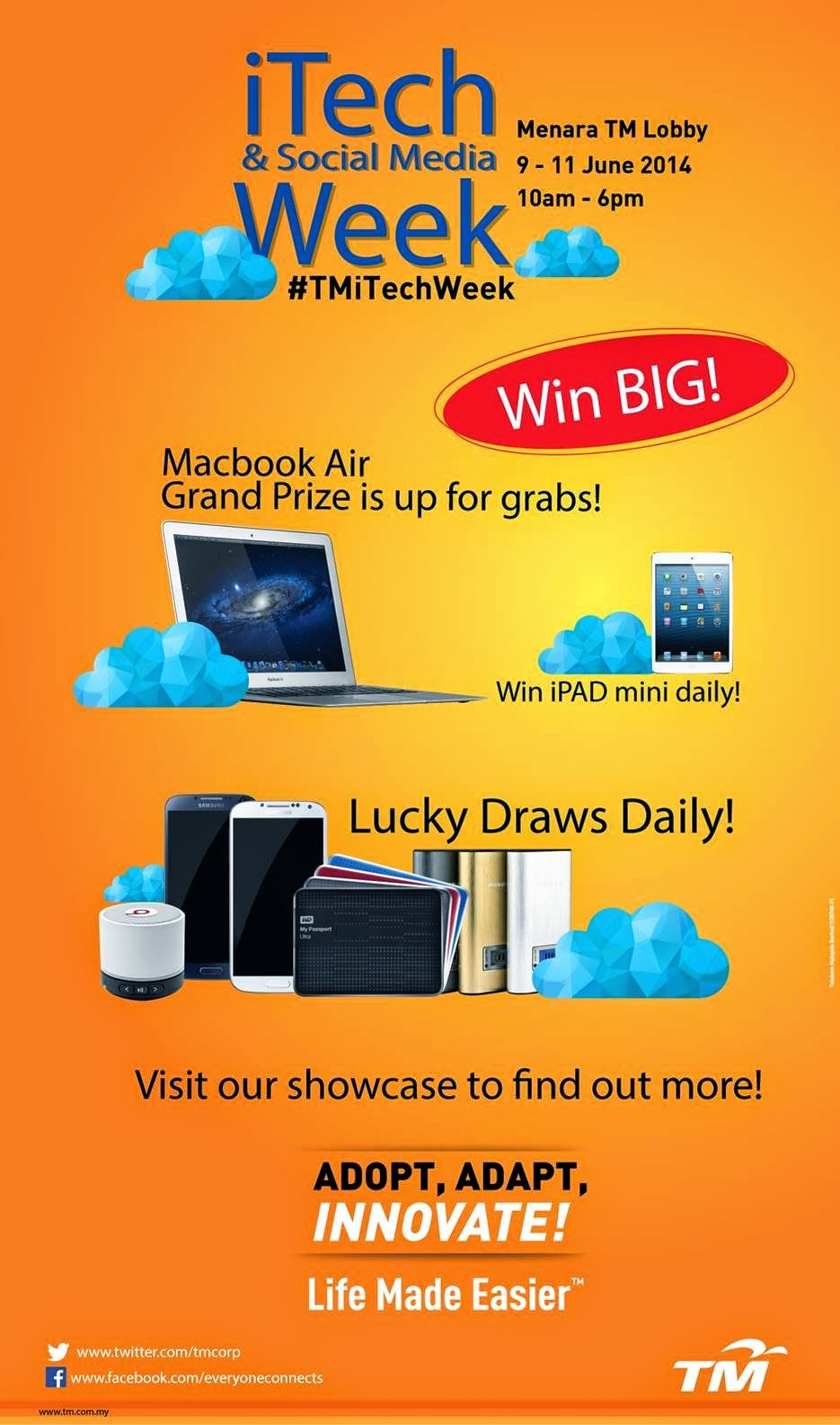 iTech & Social Media Week : Attractive Prizes to be Won!